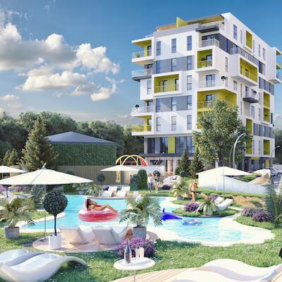 Piscina exterioara - Real Residence Resort Ploiesti